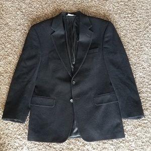 Jos. A. Bank Pitch Black Cashmere Sport Coat 38S